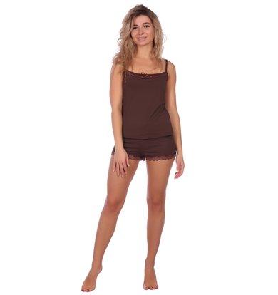 Жен. пижама арт. 16-0573 Какао р. 42