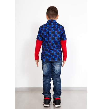 "Дет. рубашка ""Легион"" Синий р. 28"