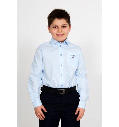 """Дет. рубашка """"Идон"""" Голубой р. 30"""
