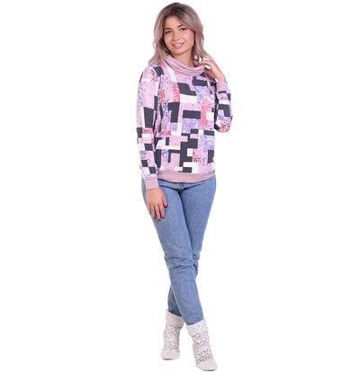 Жен. блуза арт. 16-0684 Сухая роза р. 64
