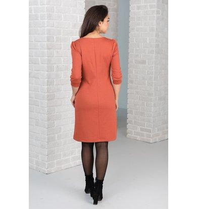 Жен. платье арт. 19-0404 Терракотовый р. 46