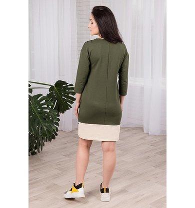 """Жен. платье """"арт. 19-0247 Хаки"""" р. 44"""