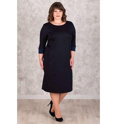 Жен. платье арт. 19-0537 Темно-синий р. 48