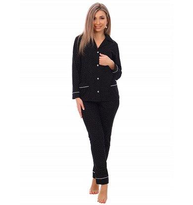 Жен. пижама арт. 16-0745 Черный р. 58