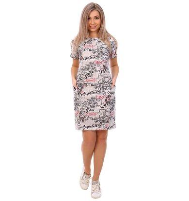 Жен. платье арт. 16-0746 Серый р. 56