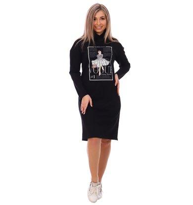 Жен. платье арт. 16-0748 Черный р. 58