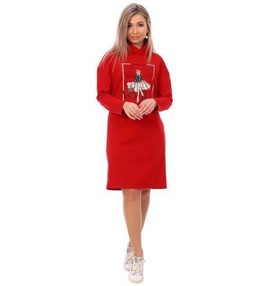Жен. платье арт. 16-0748 Красный р. 44