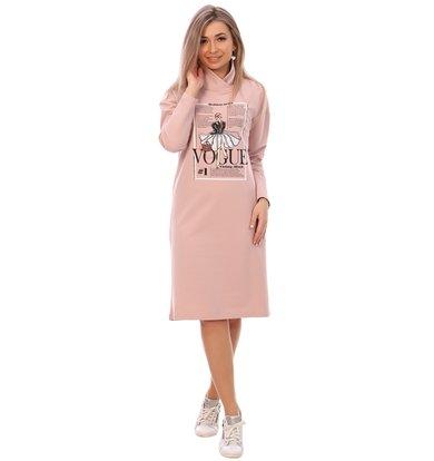 Жен. платье арт. 16-0748 Пудра р. 58