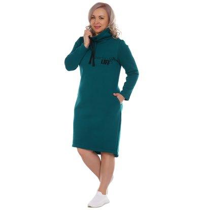 Жен. платье арт. 17-0177 Изумрудный р. 46