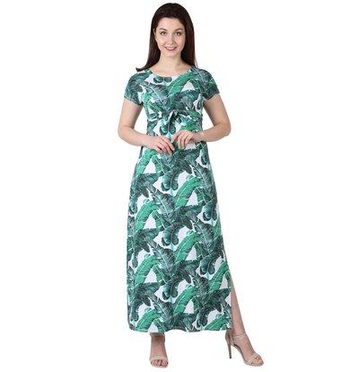 """Жен. платье """"Ботаника"""" Белый р. 56"""