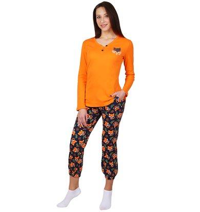 "Жен. пижама ""Лиса"" Оранжевый р. 44"