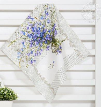 """Набор полотенец """"Полевые цветы"""" Серый р. 45х60"""