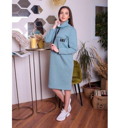 Жен. платье арт. 17-0177 Фисташковый р. 60
