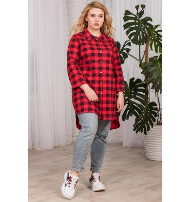"""Жен. рубашка """"арт. 19-0063 Красный"""" р. 42"""