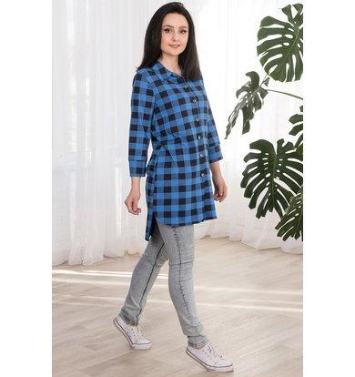 "Жен. рубашка ""арт. 19-0063 Синий"" р. 42"