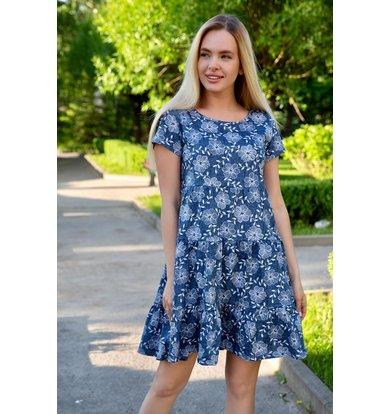 "Жен. платье ""Ветерок"" Синий р. 44"