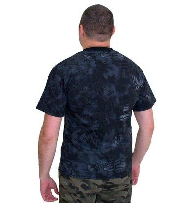 """Муж. футболка """"Камуфляж"""" Черный р. 46"""