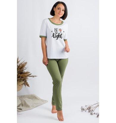 Жен. пижама арт. 19-0681 Хаки р. 56